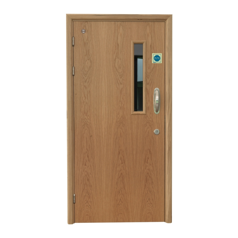 Solo single action doorset for mental health with Pyrolux vision panel