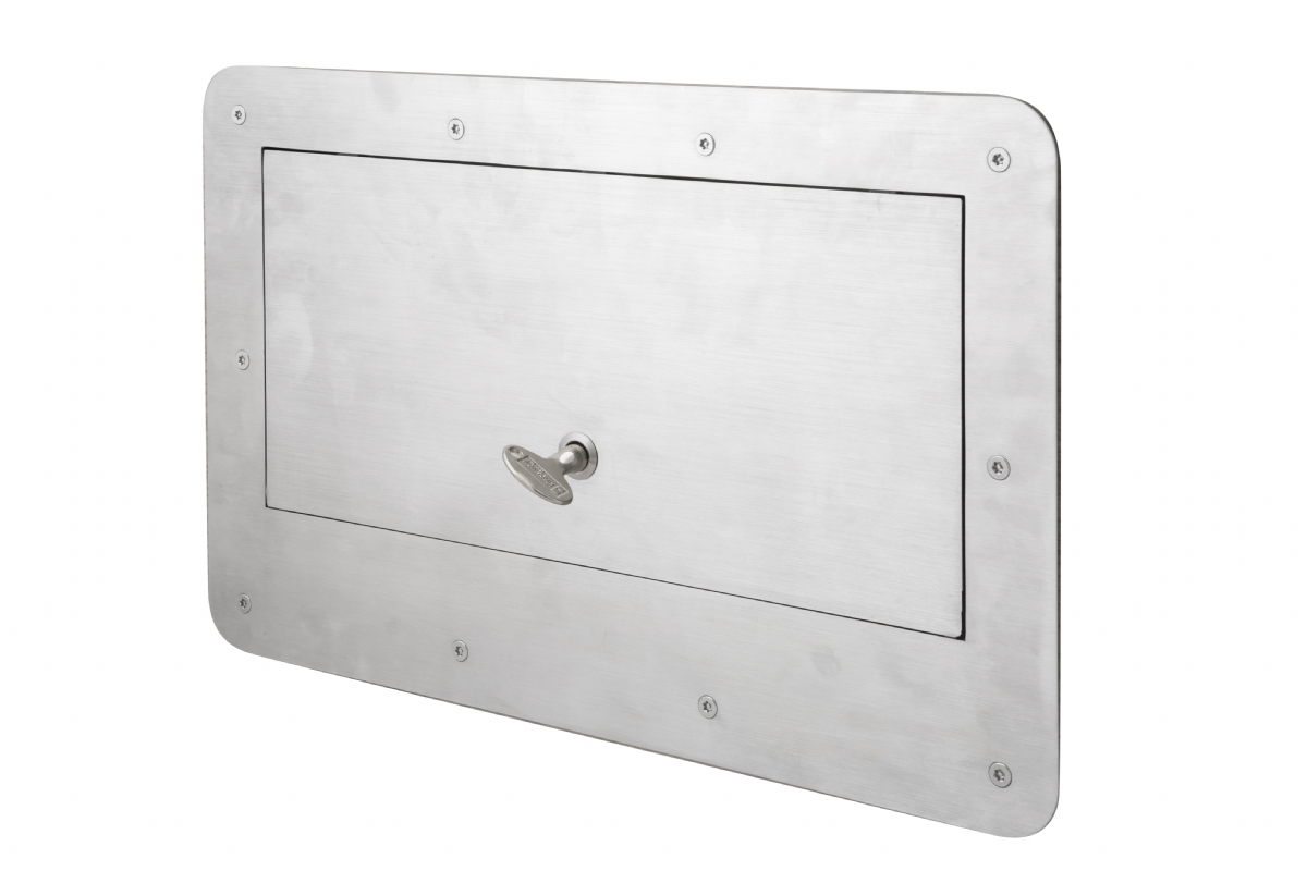 Tray Hatch for Mental Health Anti-Ligature Anti-Barricade