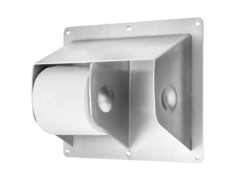KG23 Ligature Resistant Toilet Twin Roll Holder Surface Mounted